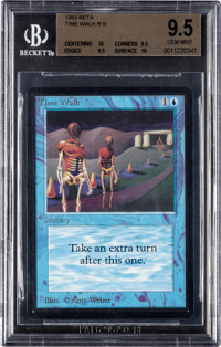 Magic: The Gathering Beta Edition Time Walk BGS 9.5 (Wizards of the Coast 1993)