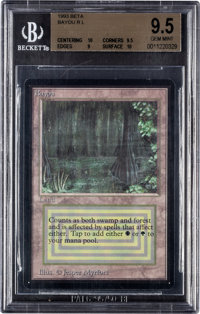 Magic: The Gathering Beta Edition Bayou BGS 9.5 (Wizards of the Coast, 1993)