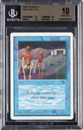 Memorabilia:Trading Cards, Magic: The Gathering Unlimited Edition Time Walk BGS 10 (Wizards ofthe Coast, 1993)...