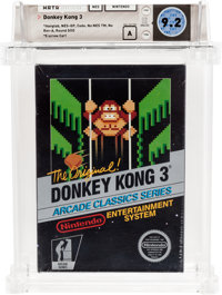 Donkey Kong 3 (NES, Nintendo, 1986) Wata 9.2 A (Seal Rating) Variant: Sealed Hangtab, 4th Revision, 2 Codes
