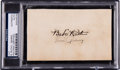 Autographs:Index Cards, 1920's Babe Ruth & Lou Signed Index Card....