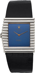 Timepieces:Wristwatch, Rolex, Rare Cellini King Midas, 18K White Gold, Manual Wind, Ref. 4015, Circa 1976. ...