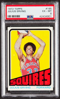 Basketball Cards:Singles (1970-1979), 1972 Topps Julius Erving #195 PSA EX-MT 6....