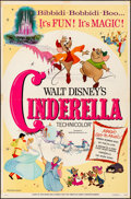 Movie Posters:Animation, Cinderella (Buena Vista, R-1965). Folded, Fine/Very Fine.