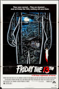 Movie Posters:Horror, Friday the 13th (Paramount, 1980). Folded, Fine/Very Fine....
