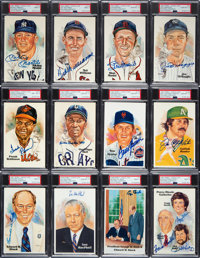 1980's-90's Hall of Famers Signed Perez-Steele Postcards Lot of 100, PSA/DNA Encapsulated