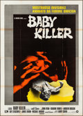 "Movie Posters:Horror, It's Alive (Warner Bros., 1975). Folded, Very Fine-. Italian 4 - Fogli (55"" X 78.5"") Italian Title: Baby Killer. Horror...."