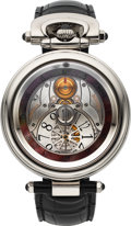 Timepieces:Wristwatch, Bovet, Rare and Fine Fleurier Amadeo 42 with Jumping Hours, 18KWhite Gold, Automatic, Ref. AFHS002, Circa early 2010's. ...(Total: 0 Items)