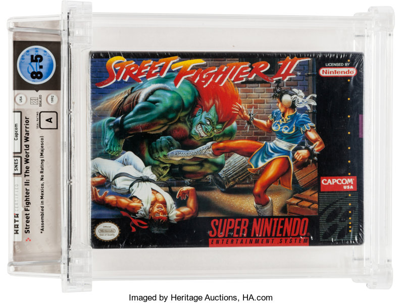 Street Fighter Ii The World Warrior Snes Capcom 1992 Wata 8 5 Lot 94841 Heritage Auctions