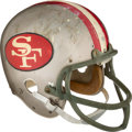 Football Collectibles:Helmets, Late 1960's/Early 1970's Dave Wilcox Game Worn & Signed San Francisco 49ers Helmet....