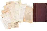 Cornelius Agnew Archive of Letters, Printings, and Sanitary Commission Book