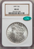 Morgan Dollars: , 1899 $1 MS65 NGC. CAC. NGC Census: (623/78). PCGS Population: (1536/357). CDN: $700 Whsle. Bid for problem-free NGC/PCGS MS...