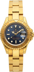 Timepieces:Wristwatch, Rolex, Fine Ladies 18K Yellow Gold Yacht-Master, Automatic, Ref. 69628/69620, Circa 1995. ...