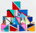 Post-War & Contemporary:Contemporary, Vasa Velizar Mihich (b. 1933). Sculpture #2243 (10 Cubes),1983. Laminated acrylic. 6-1/4 x 6-1/4 x 6-1/4 inches (15.9 x...(Total: 10 Items)