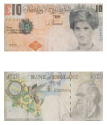 Collectible:Print, Banksy X Banksy of England. Di-Faced Tenner, 10 GBP Note (two works), 2005. Offset lithographs in colors on paper. 3 x 5...