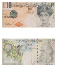 Banksy X Banksy of England Di-Faced Tenner, 10 GBP Note (two works), 2005 Offset lithographs in colo