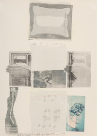 Robert Rauschenberg (1925-2008) Two Reasons Birds Sing, 1979 Screenprint in colors with collage on w