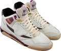 Basketball Collectibles:Others, 1990-91 Magic Johnson Game Worn & Signed Los Angeles Lakers Sneakers. ...