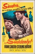 Movie Posters:Film Noir, Suddenly (United Artists, 1954). Folded, Very Fine-.