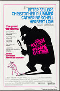 "Movie Posters:Comedy, The Return of the Pink Panther (United Artists, 1975). Folded, VeryFine. One Sheets (2) (27"" X 41"") 2 Styles & Photo..."
