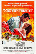 "Movie Posters:Academy Award Winners, Gone with the Wind (MGM, R-1974). Folded, Near Mint. One Sheet (27"" X 41"") Howard Terpning Artwork. Academy Award Winners.. ..."