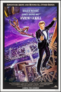 """A View to a Kill (United Artists, 1985). Rolled, Very Fine-. One Sheet (27"""" X 41""""). Dan Gouzee Artwork. James..."""