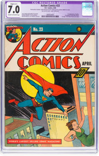 Action Comics #23 (DC, 1940) CGC Apparent FN/VF 7.0 Slight (A-1) Cream to off-white pages