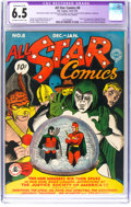 Golden Age (1938-1955):Superhero, All Star Comics #8 (DC, 1942) CGC Apparent FN+ 6.5 Extensive (A-5) Off-white to white pages....