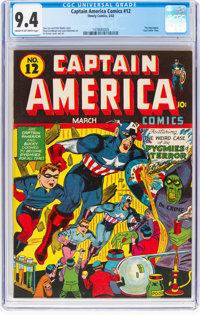 Captain America Comics #12 (Timely, 1942) CGC NM 9.4 Cream to off-white pages