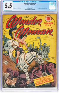 Wonder Woman #1 (DC, 1942) CGC FN- 5.5 Cream to off-white pages
