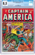 Golden Age (1938-1955):Superhero, Captain America Comics #6 (Timely, 1941) CGC VF+ 8.5 Off-white pages....