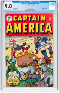 Captain America Comics #40 (Timely, 1944) CGC VF/NM 9.0 Off-white to white pages