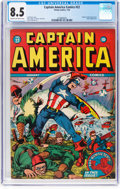 Golden Age (1938-1955):Superhero, Captain America Comics #22 (Timely, 1943) CGC VF+ 8.5 Cream to off-white pages....