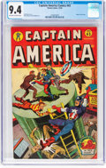 Golden Age (1938-1955):Superhero, Captain America Comics #43 (Timely, 1944) CGC NM 9.4 Off-white to white pages....
