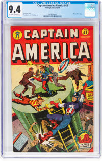 Captain America Comics #43 (Timely, 1944) CGC NM 9.4 Off-white to white pages