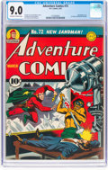 Golden Age (1938-1955):Superhero, Adventure Comics #72 (DC, 1942) CGC VF/NM 9.0 Off-white to white pages....