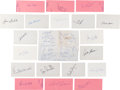 Autographs:Others, 1970's Baseball Greats Signed Index Cards Lot of Approximately 740. ...