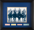 Autographs:Others, 1920's Four Horseman Signed Cut Signature Display....