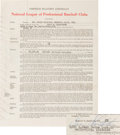 Baseball Collectibles:Others, 1954 Enos Slaughter Signed St. Louis Cardinals Contract from TheEnos Slaughter Collection. ...