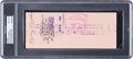Baseball Collectibles:Others, 1978 Mickey Mantle Signed New York Yankees Check, PSA/DNA NM-MT 8....