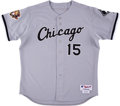 Baseball Collectibles:Uniforms, 2001 Sandy Alomar Game Worn & Signed Chicago White Sox Jersey....