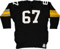 Football Collectibles:Uniforms, 1968 Dick Capp Game Worn Pittsburgh Steelers Jersey....