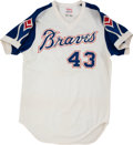 Baseball Collectibles:Uniforms, 1975 Cito Gaston Game Worn Atlanta Braves Jersey. ...