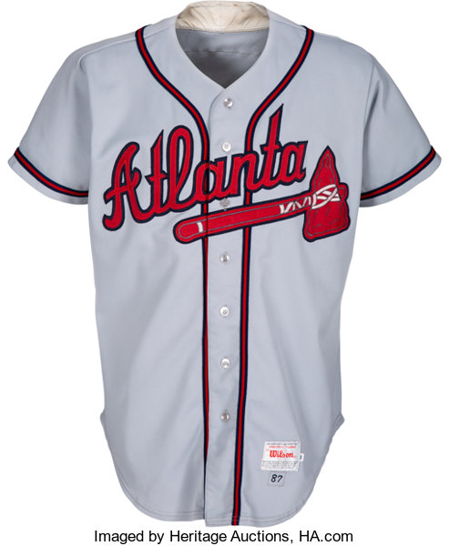 reputable site 54bb1 70a5a 1987 Willie Stargell Game Worn Atlanta Braves Coach's Jersey ...