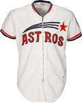 Baseball Collectibles:Uniforms, 1973 Larry Dierker Game Worn Houston Astros Jersey. ...