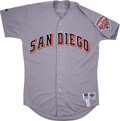 Baseball Collectibles:Uniforms, 1992 Fred McGriff San Diego Padres Team Issued Jersey....