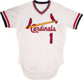 Baseball Collectibles:Uniforms, 1977 Garry Templeton Game Worn St. Louis Cardinals Jersey. ...