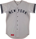 Baseball Collectibles:Uniforms, 1975 Dave Pagan Game Worn New York Yankees Jersey. ...
