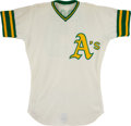 Baseball Collectibles:Uniforms, 1973 Blue Moon Odom Game Worn Oakland Athletics Jersey. ...