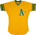 Baseball Collectibles:Uniforms, 1974 Claudell Washington Game Worn Oakland Athletics Jersey. ...